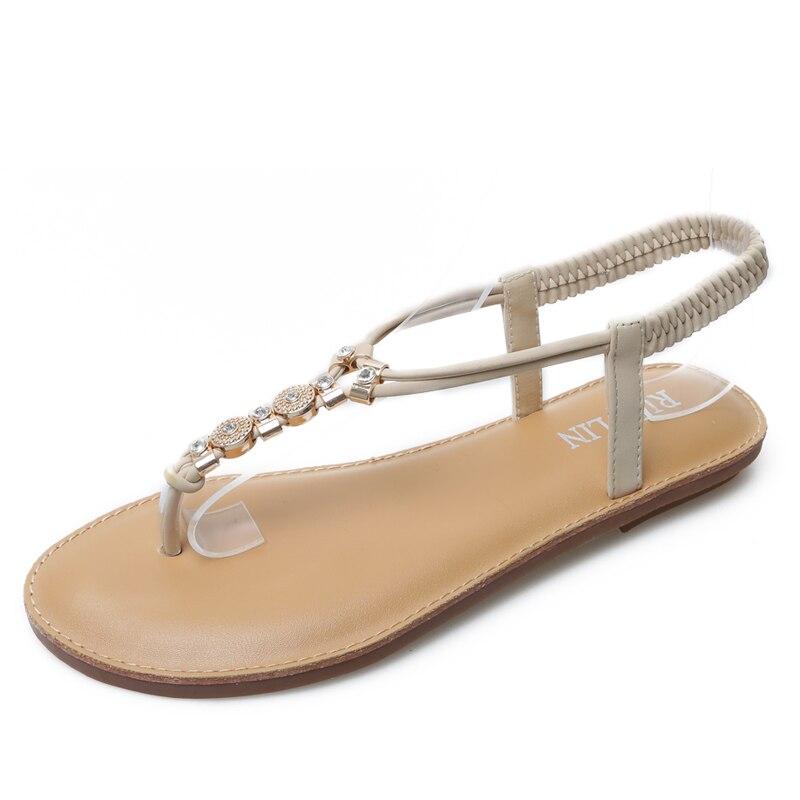 HEYIYI Women Sandals Platform Wedges Diamonds Rhinestone Flats Breathable Crystal Gladiator Sandles Beach Shoes Plus Size 35-41