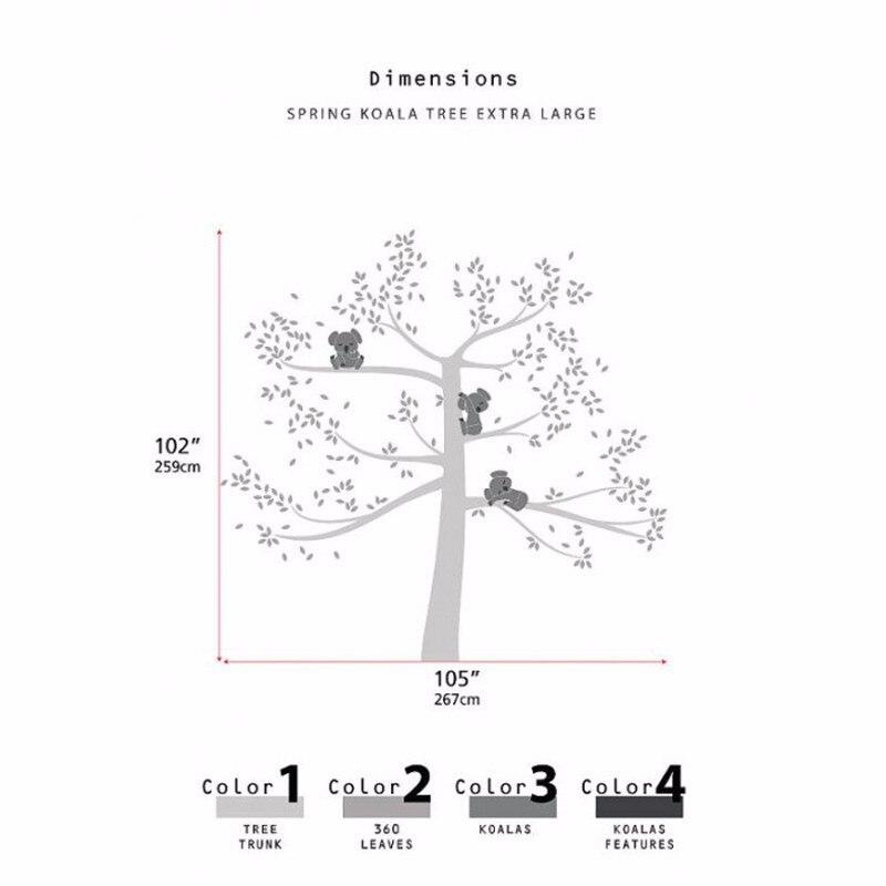 Виниловые настенные наклейки на дерево 260x360 см северный олень, новогодняя елка лесные птицы настенные наклейки Наклейка Искусство декорати... - 5