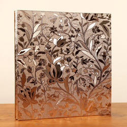 High quality 600 pockets PU Leather Photo Album Vintage Carved Handmade DIY Insert Scrapbook Foto Albums Flush Mount Album