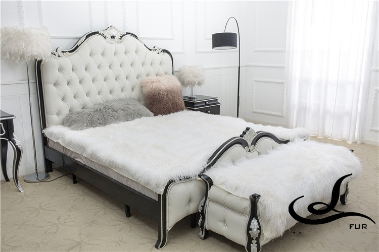 Square shape Tibet sheep fur throw for furniture upholstery, sheep skin rugs, curly fur sofa cushion big size 180*200cm