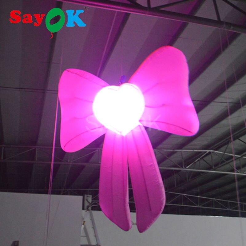Надувная форма банта RGB освещенные фейерверки надувной светодиодный Декор для свадебной сцены