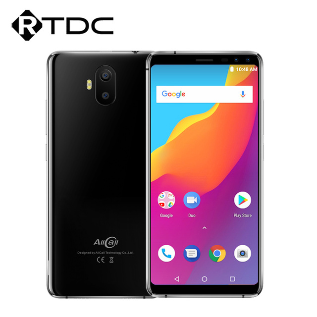 AllCall S1 2GB RAM 16GB ROM Mobile Phone 5.5 inch Android 8.1 MTK6580A Quad Core Four Camera Dual 8MP+2MP 5000mAh Smartphone