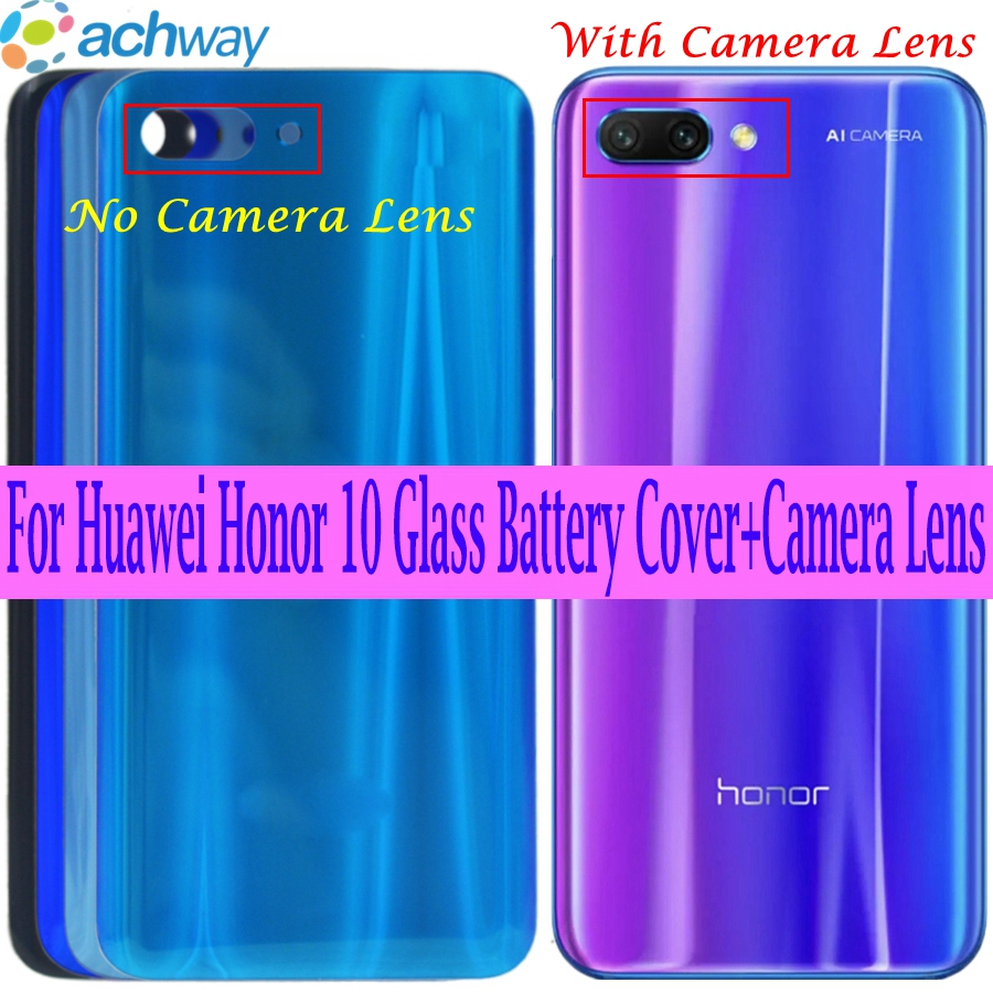 for Huawei Honor 10 Back Glass Battery Cover Rear Door Housing Case for Honor 10 Lite Note 10 Battery Cover Rear Glass Panel image