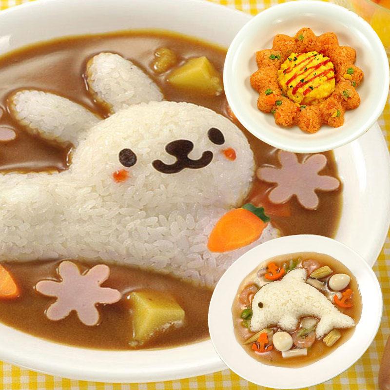 Vanzlife креативный милый кролик дельфины морские водоросли рисовая Коробка Форма Сделай Сам Вегетарианская форма детская еда бенто устройства для изготовления форм-2