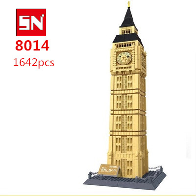 Free Shipping  8014 1642PCS large Bricks blocks plastic Building block sets educational block toys THE BIG BEN OF LONDONFree Shipping  8014 1642PCS large Bricks blocks plastic Building block sets educational block toys THE BIG BEN OF LONDON
