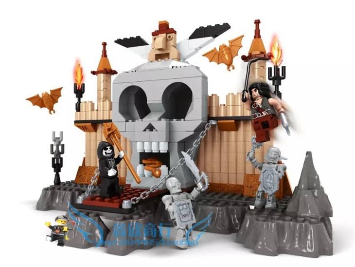 building block set compatible with font b lego b font Castle devildom 251 3D Construction Brick