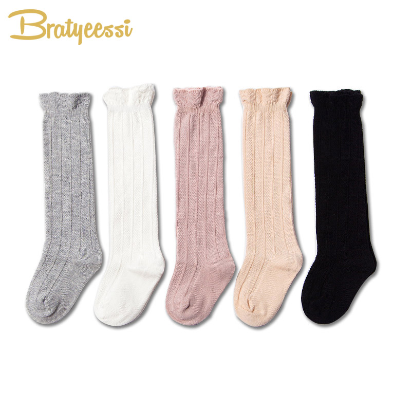 New Princess Baby Socks for Girls Lace Cotton Knee Length High Infantil Newborn Girl Socks 1 Pair
