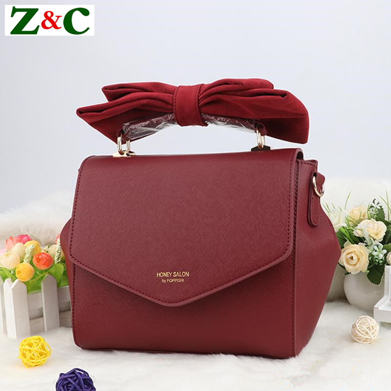Anese Famous Designer Honey Salon Luxury Brand Bownot Women Tote Bags Red Pink Handbags Lady Leather Shoulder Louie Bag In From