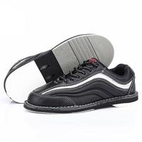 Профессиональная Мужская обувь для боулинга Мужская противоскользящая подошва кроссовки из натуральной кожи микрофибры дышащая Светоотр
