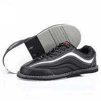 Professional Men bowling shoes male anti skid outsole sneakers genuine leather microfiber breathable Reflective sports shoes