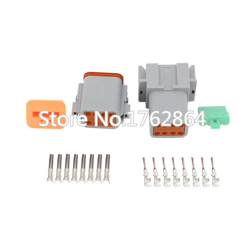 50 Sets DJ3081Y-1.6-11/21 Deutsch Connectors 8 Pin DT04-8P/DT06-8S Automobile waterproof wire electrical connector plug 22-16AWG black 50 sets 4 pin dj3041y 1 6 11 21 deutsch connectors dt04 4p dt06 4s automobile waterproof wire electrical connector plug