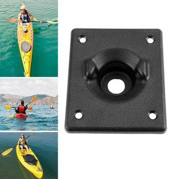 1 ud. ABS Kayak barco de pesca bote de pesca canoa timón dirección Control sistema mango agarre Base montaje bote de remos Accesorios