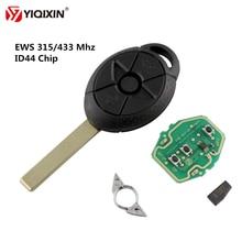 YIQIXIN 3 кнопки без ключа системы раннего предупреждения дистанционного ключа автомобиля 315/433 МГц ID44-PCF7935 чип для BMW MiNi Cooper S R50 R53 2005-2007