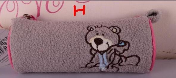 NICI plush animal cylinder Pencil bag bear polar bear koala sheep storage bag 1p