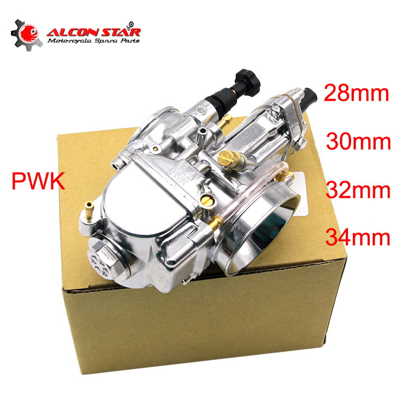 Alconstar 28 30 32 34 Mm OKO PWK Carburetor Motorcycle Carburador With Power Jet Fit On Racing Motor 4T Engine ATV Bike