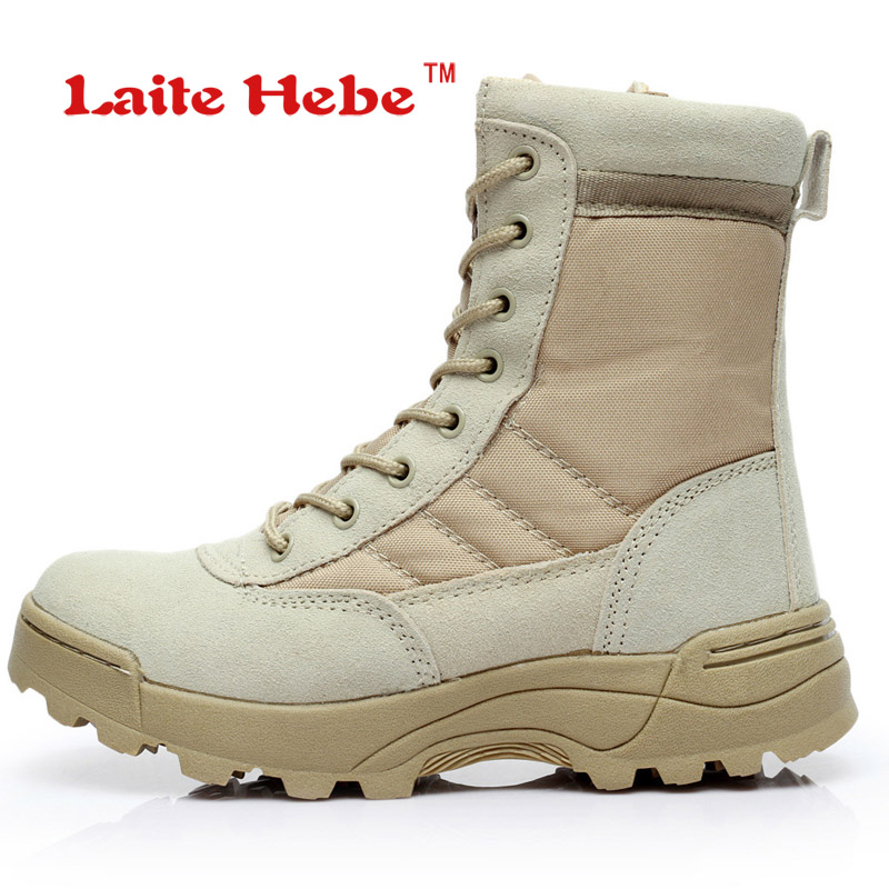 Laite Hebe Delta Tactical Boots Military Men Boots SWAT American Combat Winter Army Boots Desert Boot Hiking Shoes Men Size39-45 military army boots 6 0 war delta desert boots special force boots multicam climbing shoe euro 39 45
