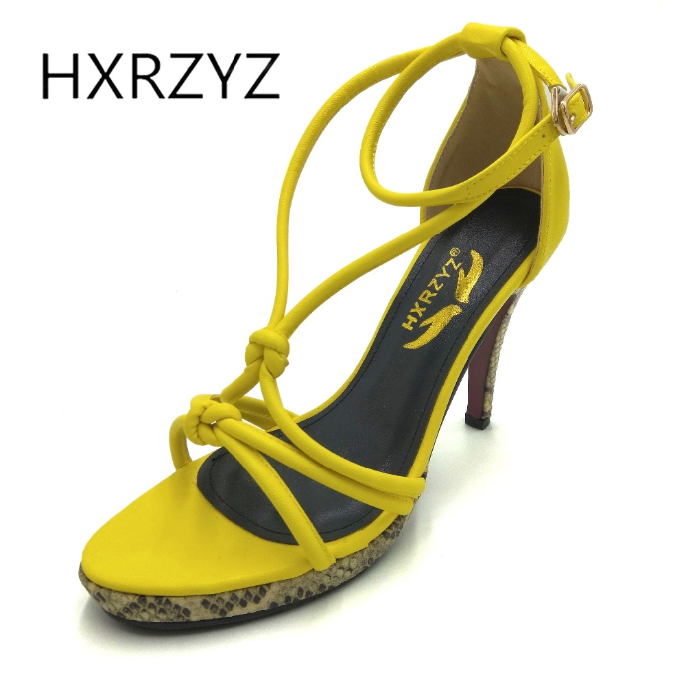 HXRZYZ high heel sandals women ankle strap nude hollow shoes female summer new fashion sexy super open toe heels ladies shoes 2017 new arrival abnormal jeweled heels rhinestone crystal embellished high heel sandals ankle strap lock summer party shoes