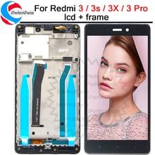 Xiaomi Redmi 3S LCD 디스플레이 + Xiaomi Redmi 3S 3x3 pro LCD 용 프레임 교체 용 터치 스크린 디지타이저 어셈블리