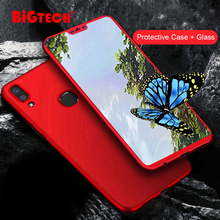 360 Full Protection Case with Glass for vivo Y91i Y81 Y93 Y95 Y91C Matte Hard Phone Cover V9 V7 Plus case Coque