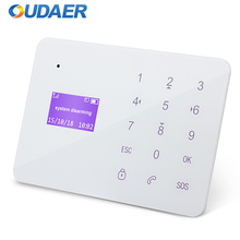 OUDEAR Brand New GSM Alarm System Wireless Remotely Control IOS Android APP LCD Display Touch Keypad Home Security System