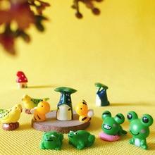 2 pcs little bird/frog Totoro/doll house/miniatures/cute/fairy garden gnome/moss terrarium decor/crafts/DIYsupplies/figurine