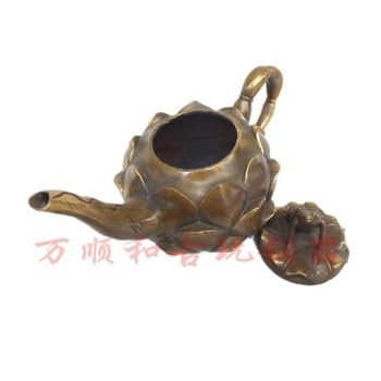 Boutique Collection Brass Copper Frog Lotus Pot Ornaments
