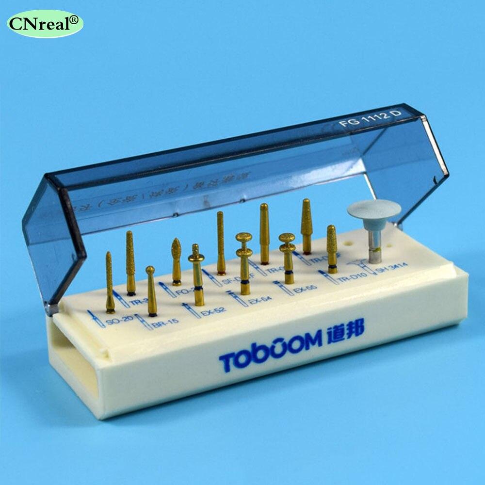 1 Kit de système de placage de porcelaine dentaire pour fraises de laboratoire de dentiste couronne zircone céramique antérieure et postérieure FG1112D