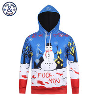 Women Men Hoodies Sweatshirt Christmas 3D Deer Snowman Printed Kawaii Happy Funny Tracksuits Assassins Creed Outwear