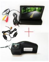 Wireless Color Car Rear View Camera For Mazda 2 Mazda 3 With 4 3 Inch Foldable