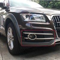 Free Shipping High Quality ABS Chrome Front Fog lamps cover Trim Fog lamp shade Trim For Audi Q5