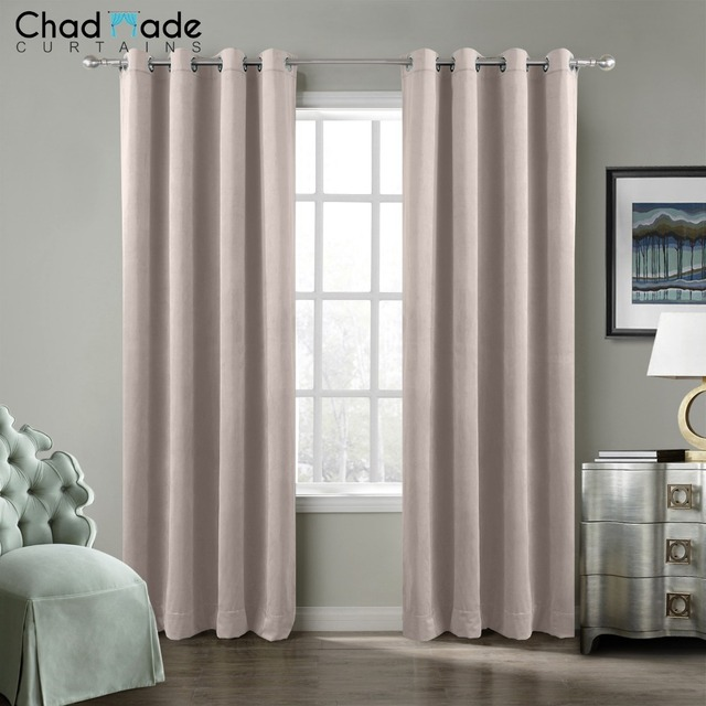ChadMade Solid Blackout Curtains For The Bedroom Velvet Modern Curtains For  Living Room Window Curtains (