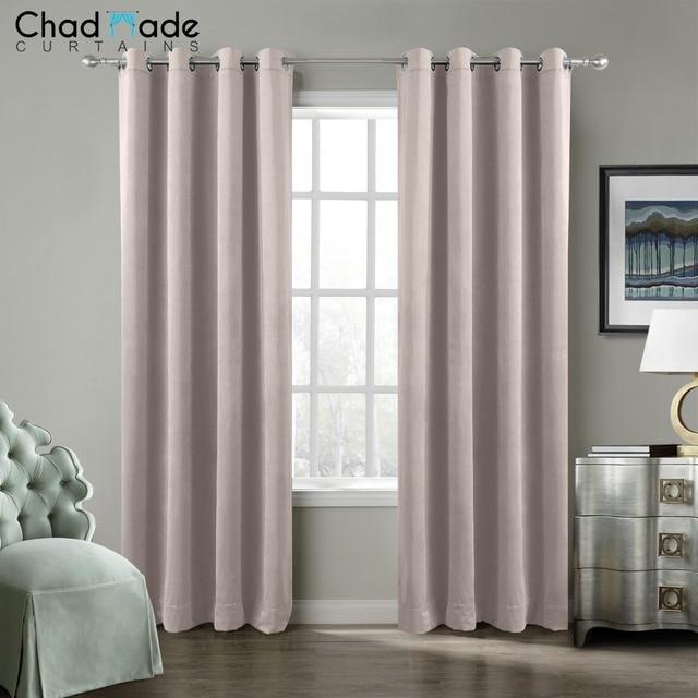 Chadmade solido blackout tende per la camera da letto di velluto moderna tende per soggiorno - Tende per camera da letto moderne ...