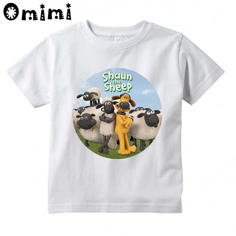 7cd0b4f9 ... cd94afdb Kids Cartoon Shaun the Sheep Design T Shirt Boys/Girls Great  Kawaii Short Sleeve ...