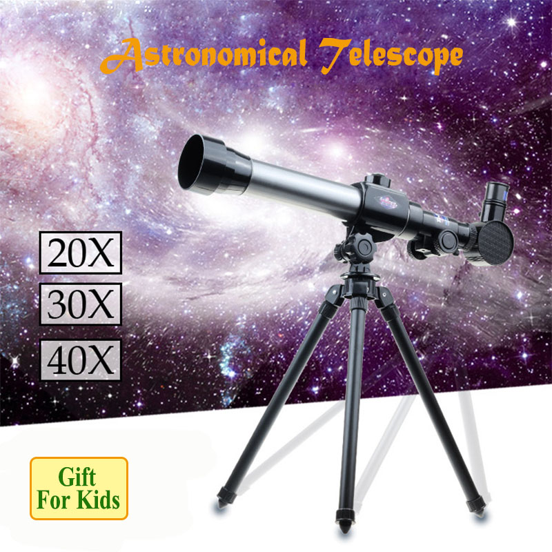 40X Outdoor Monocular Space Astronomical Telescope With Portable Tripod 360/50mm telescopic Telescope Toys for Kids zonebike zoom hd 90x outdoor space astronomical telescope monocular with tripod 360 50mm telescopic spotting scope for children