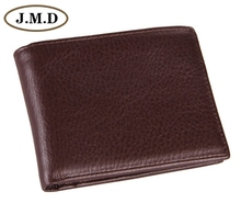 8054C Hot Sell  Fashion Coffee Genuine Leather Mens Wallet Clutch Bag