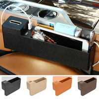 Auto Storage Box Car Seat Gap storage box Storage Organizer holder bracket Pocket Phone Car Mounts tool box Car Accessories