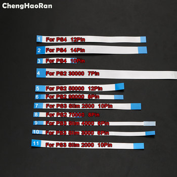 ChengHaoRan 6/8/10/12/14 Pin Power Switch Button Ribbon Flex Cable For Sony PS4 PS3 Slim 2000 2500 4000 PS2 30000 5W Controller image