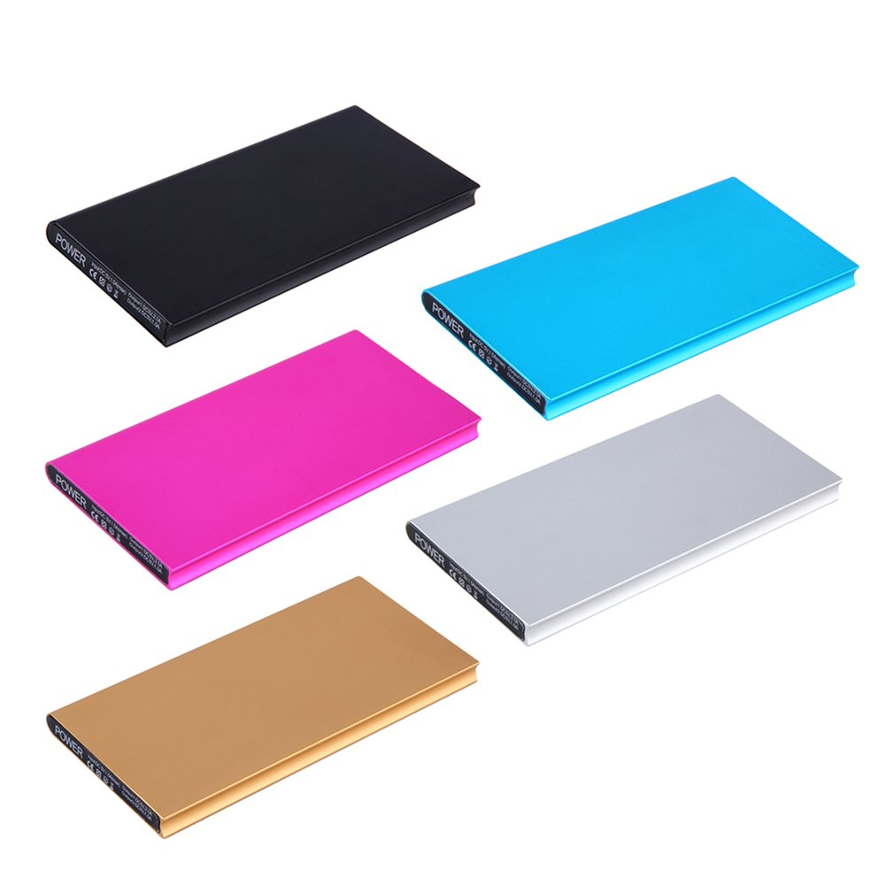 Wopow Ultra Thin power bank 10000mAh External Battery Charger Mobile phone PowerBank Dual USB power supply For Iphone for Xiaomi