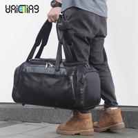 UNICALLING Роскошные фитнес сумка натуральная кожа Большая емкость стильные спортивные кожаные, для спортзала сумка рюкзак моды дорожная сумка