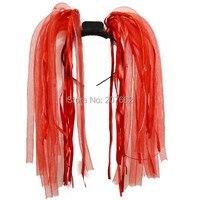 новинка бесплатная доставка 100 шт./лот мигающий сумасшедший волос привело лапши оголовье лента для волос парик дреды для вечеринок