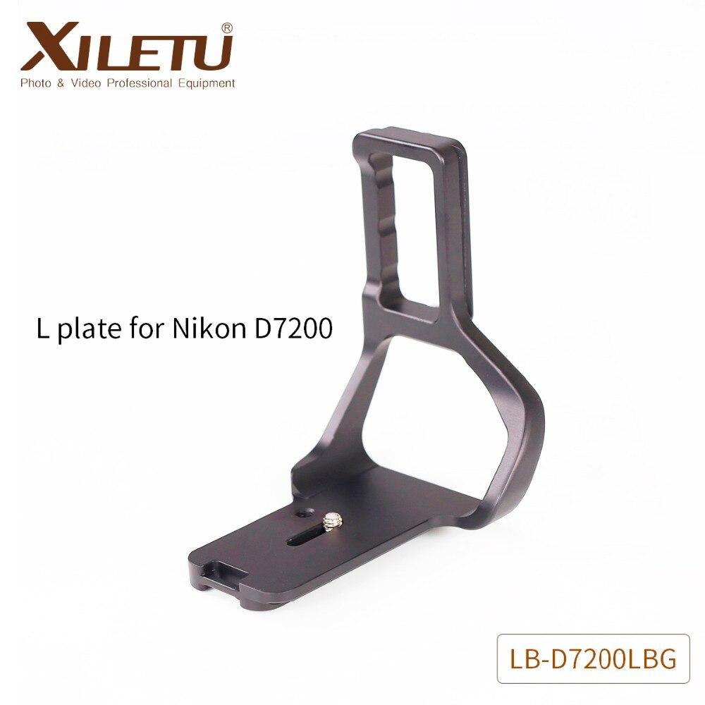 XILETU LB-D7200LBG support de trépied d'appareil photo professionnel plaque de fixation rapide support de montage en aluminium pour Nikon D7200