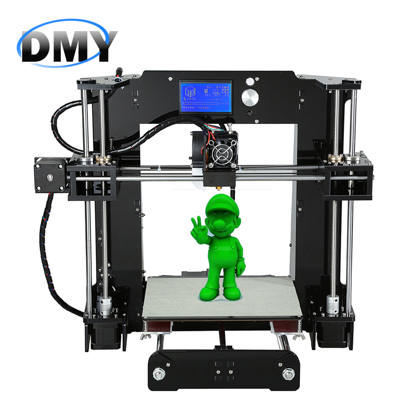 A6 Full Arcylic Reprap Prusa Industrial big size i3 DIY 3d Printer kit with Aluminium Hotbed SD card & LCD impresora imprimante