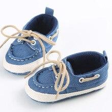 Новорожденных детская Обувь Детские Первые Ходунки Шнуровке стиль Мальчики Девочки Обувь Малыша Мягкой Подошве Удобная Обувь
