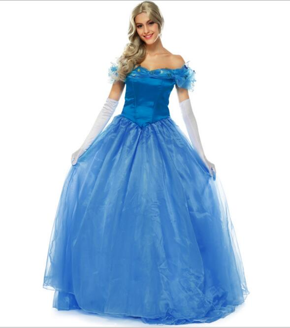 Beautiful Princess Anna Elsa Queen Girls Anime Cosplay Dress Cinderella Evening Dress Halloween Costumes Fantasias Feminina Para Festa Home