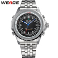 WEIDE Men Sports Watches Quartz Digital Dual Movement Date Alarm LED Backlight Display 3ATM Water Resistant Wrist Watch For Men