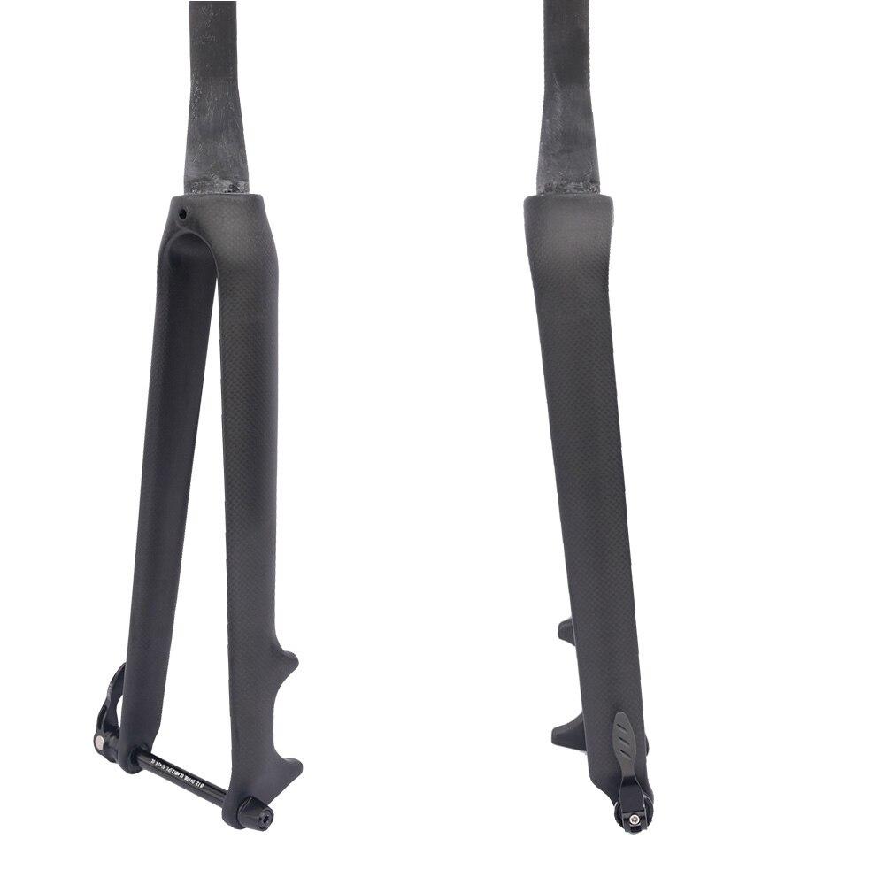 FCFB carbon fiber road bike fork 700 c Rigid Tapered Thru Axle 12mm carbon forks 1 1/8 super light carbon disc fork accessories