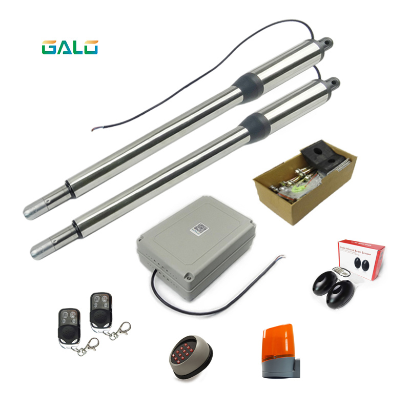 цена galo Driving Double-leaf Swing Gate Operator/Swing Gate Opener /with circuit board box and Remote control