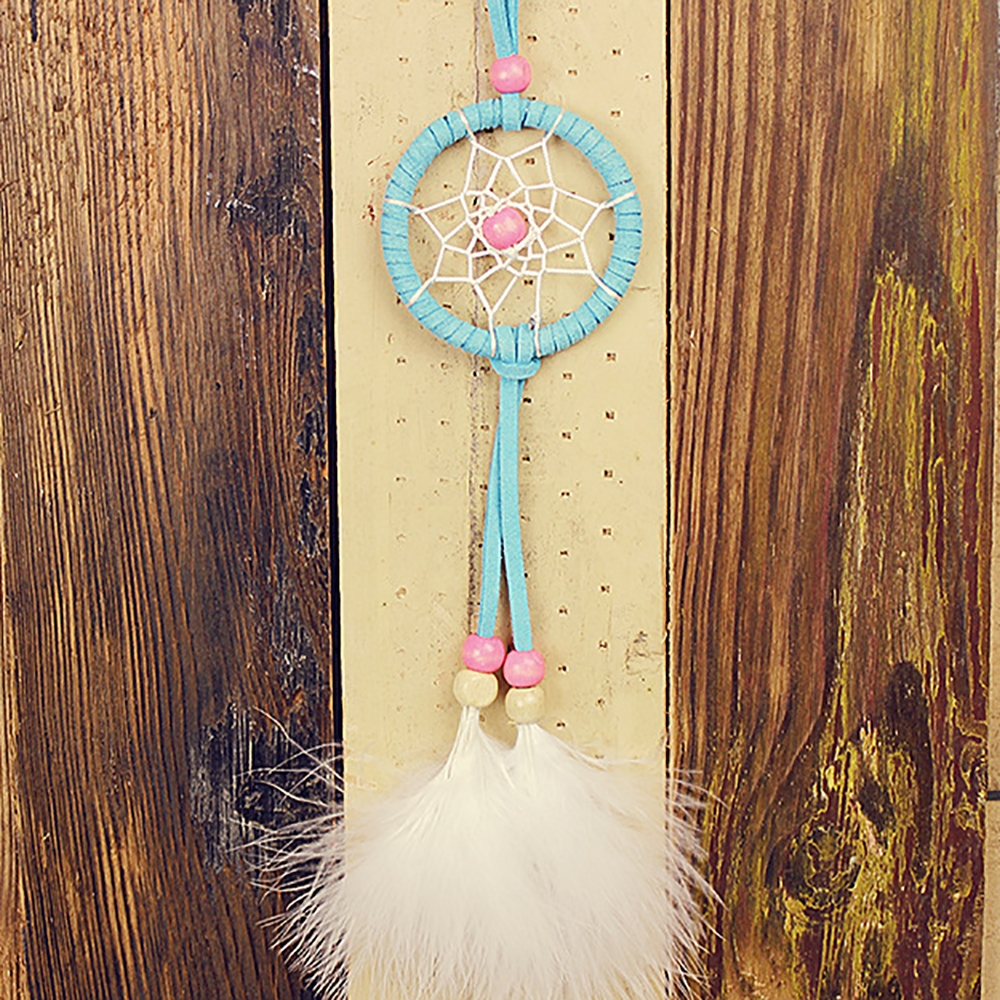 ᗗMini Original Design Handmade Dream Catcher Net With White ...