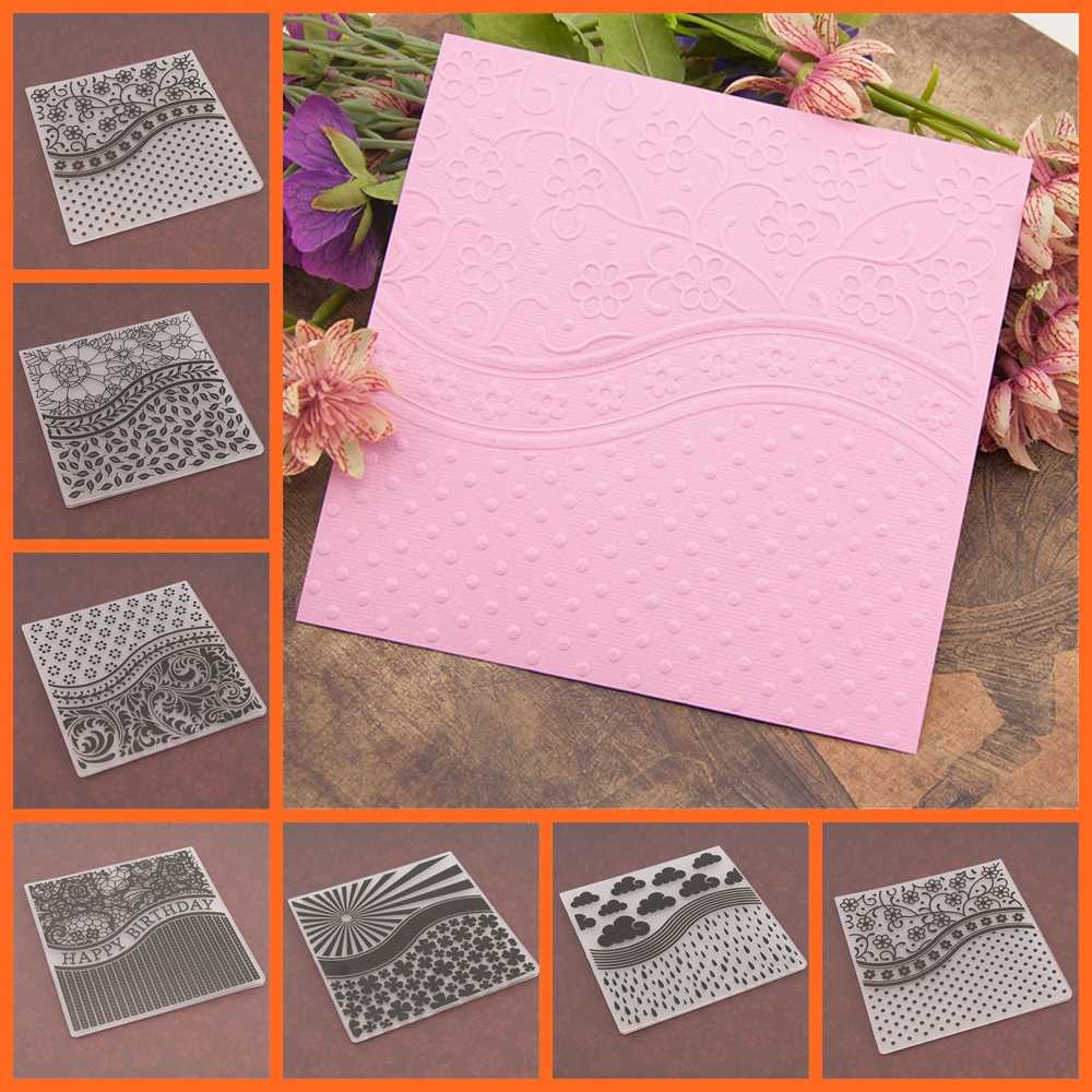 17 design Plastic Embossing Folder Stencils Template Molds Scrapbooking Paper Crafts Cards Making DIY Photo Album Decoration