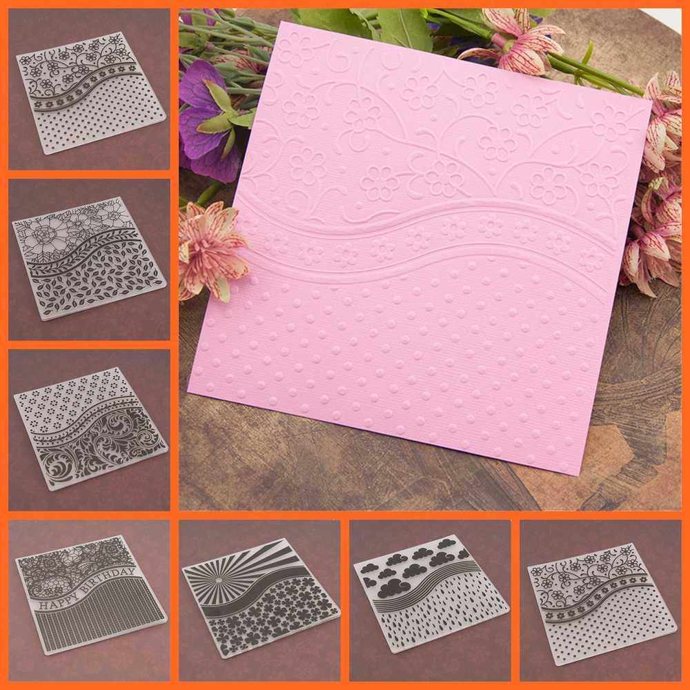 17 design Template Stencils Moldes Pasta de Gravação de Plástico Cartões de Papel Scrapbooking Artesanato Fazer DIY Álbum de fotos Decoração